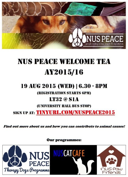 NUS PEACE Welcome Tea
